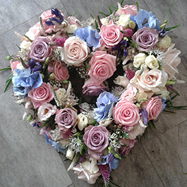 Heart Shaped Funeral Flowers by Bruallen