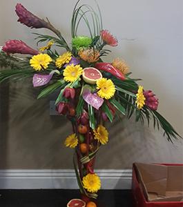 Floral and Fruit Celebration Arrangement