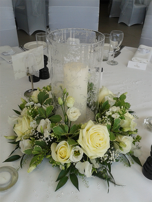 Floral Candle Surround Table Arrangement